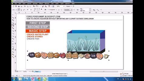 coreldraw expert tutorial corel draw tutorial creating aquarium avi youtube