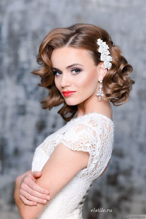 wedding hairstyles for medium hair 23 glamorous bridal hairstyles with flowers pretty designs