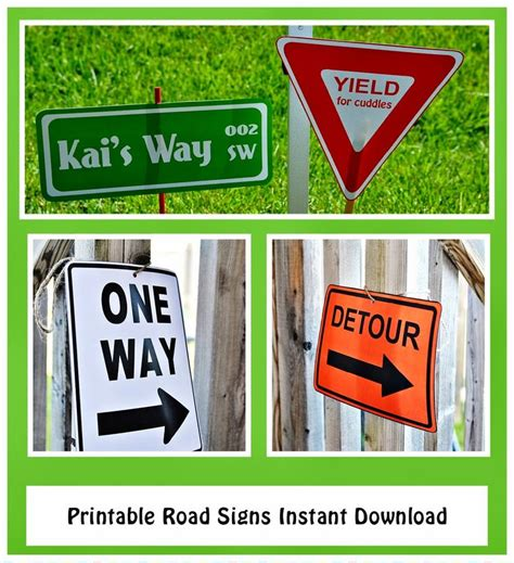 printable one way road sign 13 best images about four wheeler birthday 3 years on