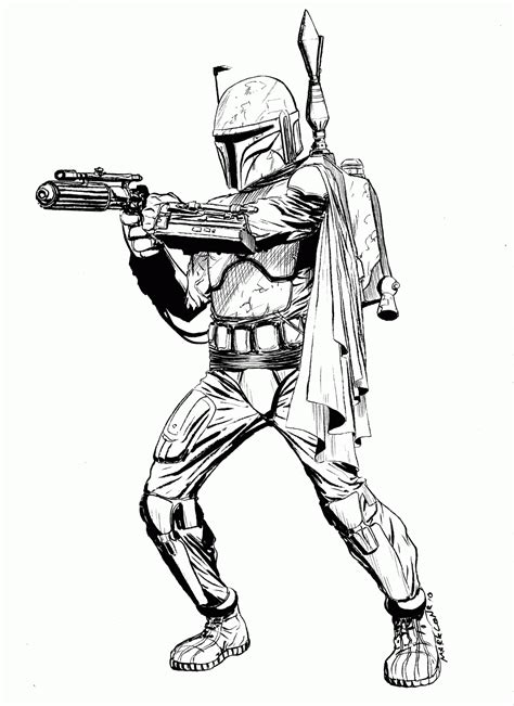 Lego Boba Fett Coloring Page by Wars Coloring Pages Boba Fett Coloring Home