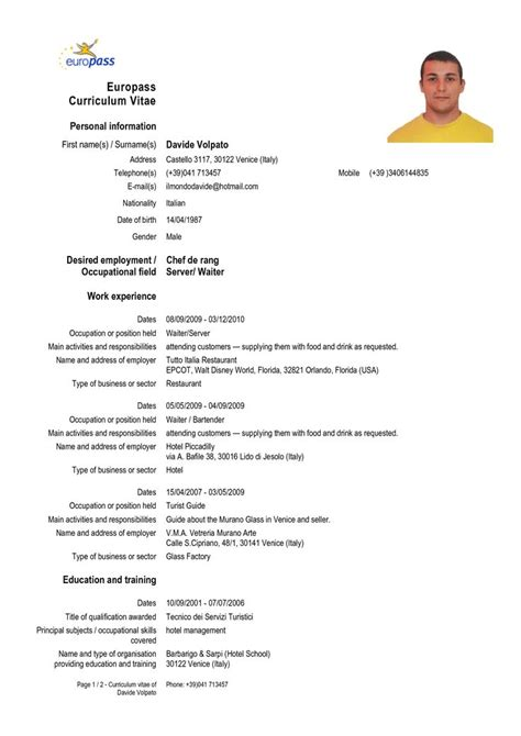 awesome collection of cv sample format in ms word resume
