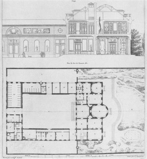 File H 244 Tel De Bourbon Cond 233 Floor Plan And Elevation Hotel Building Plans And Elevations