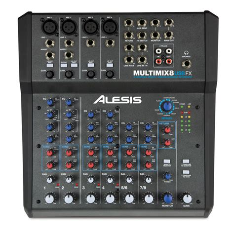 Mixer 8 Channel Bekas alesis multimix 8 usb fx 8 channel mixer with fx 16 bit recording at gear4music