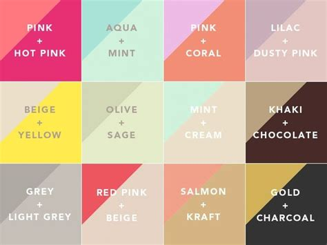 color pairings cool nail colour combinations nails pinterest
