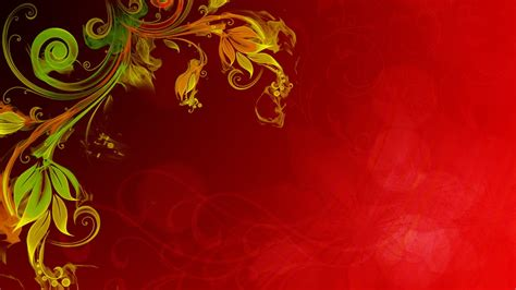 Floral Vector Red Background Hd : Wallpapers13.com