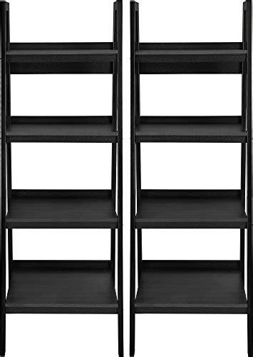coaster 4 drawer ladder style bookcase altra 4 shelf ladder bookcase bundle black