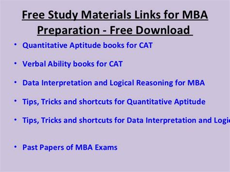 Mba Preparation by Cat Mba Preparation Tips Useful Links