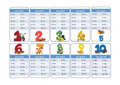 Das 1x1 by 1x1 Arbeitsbl 228 Tter Einmaleins Lernkarten Ausdrucken