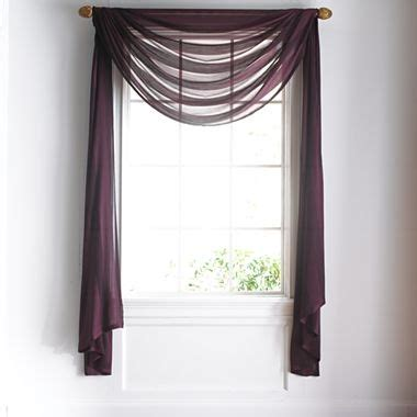 how to hang a scarf valance on a curtain rod 17 best images about curtains on pinterest window