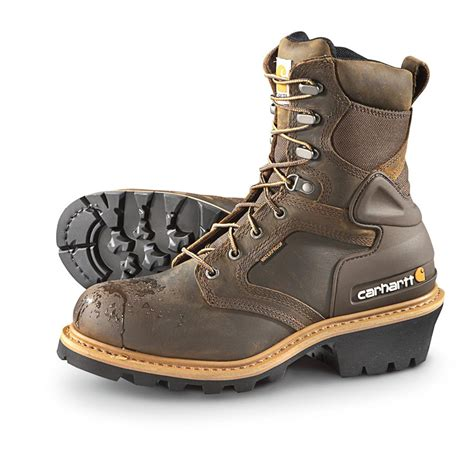 mens insulated waterproof boots s carhartt 174 soft toe waterproof insulated logger work
