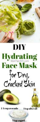Diy Moisturizing Mask For Skin Diy Do It Your Self Diy Hydrating Mask With Avocado Yogurt