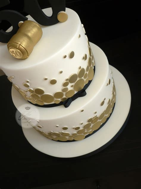 gold themed cake chagne themed 50th birthday cake cakecentral com