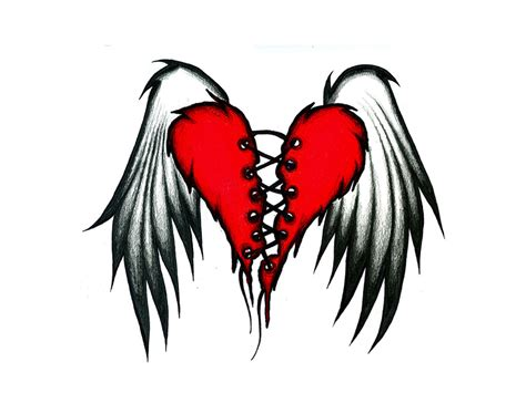 winged heart tattoo designs tattoos
