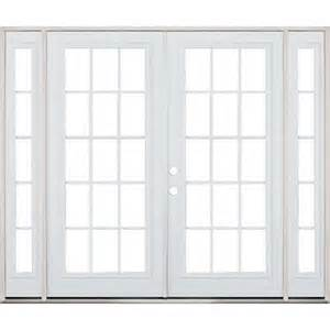 Patio French Doors With Sidelights by 8 0 Quot Wide 15 Lite Steel Patio French Double Door Unit With
