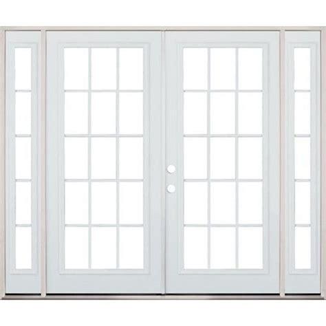Patio Doors With Sidelites by 8 0 Quot Wide 15 Lite Steel Patio Door Unit With
