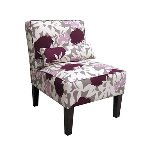 Plum Accent Chair with Shop Skyline Furniture Clark Collection Plum Accent Chair At Lowes