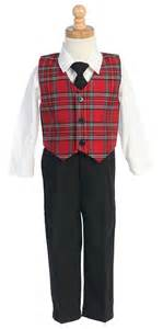 C565r holiday boys set style c565 plaid vest with pants holiday