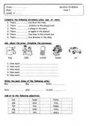 english worksheet english test for grade 3
