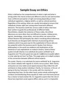 And Morals Essay by Sle Essay On Ethics