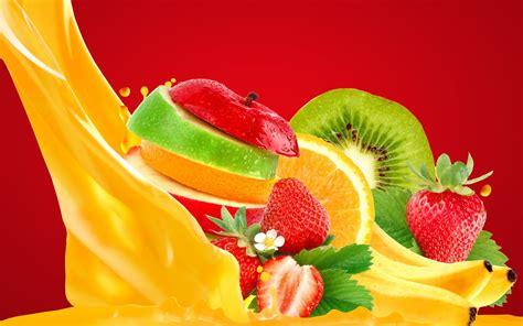 fruit juice images wallpaper craft wallpaper apple banana strawberry orange juice food 812