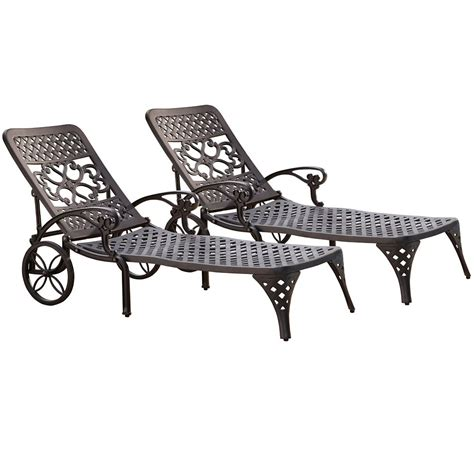 home styles biscayne black chaise lounge chairs 2 the