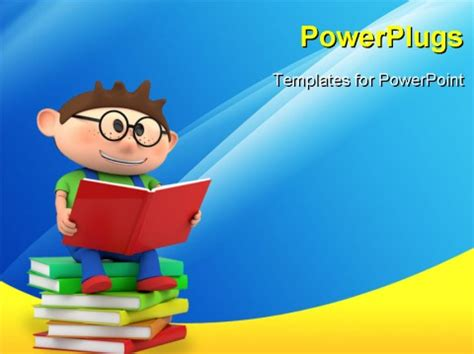 powerpoint template a person reading while sitting on a