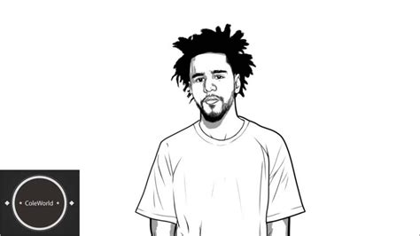 J Cole Drawing Easy by Black Boy Drawing J Cole Lil