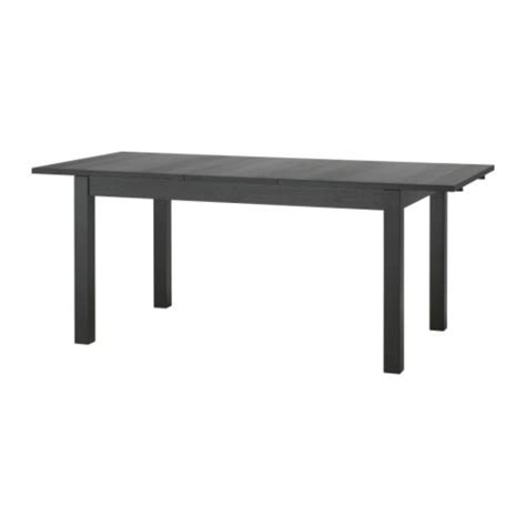 bjursta extendable table brown black 140 180 220x84 cm ikea