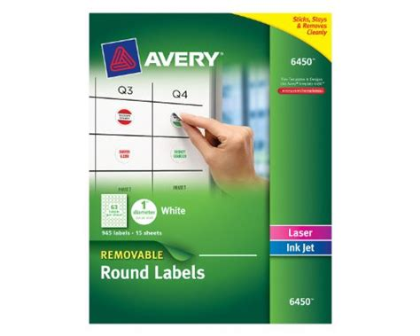 Avery 1 Inch Labels Template by Avery Removable Labels 1 Inch Diameter White