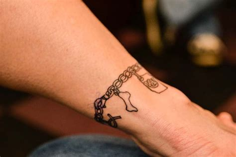 charm tattoo ankle charm bracelet just do it lol