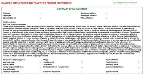 freight forwarder   format templates downloads  templates docs downloads