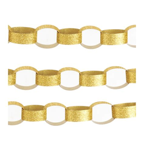 Paper Chains - glitter paper chain gold dzd