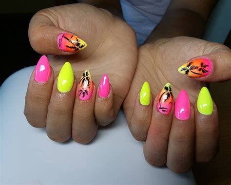 bright color nail designs 20 neon nail designs for a burst of bright colors easy