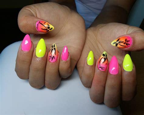 Neon Pink Nail Designs