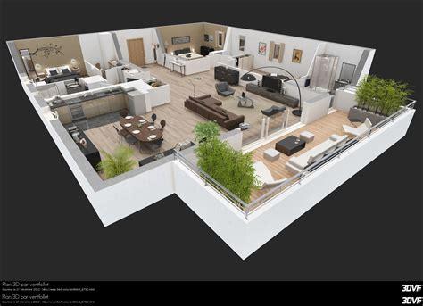 Villa Floor Plan by Www 3dvf Com Portfolio De Endesong Ventfollet Plan 3d