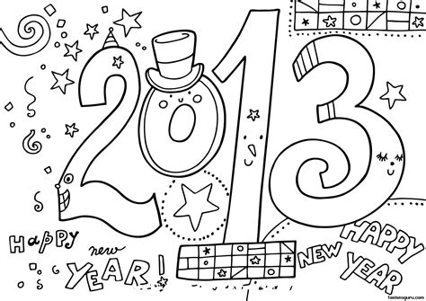 new coloring pages new year 2013 printable coloring pages printable