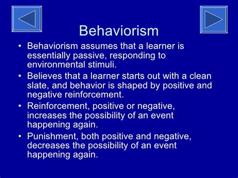 exle of behaviorism behaviorism theory of learning