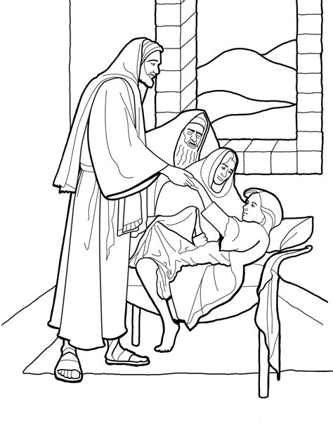 libro the imams daughter christ raising the daughter of jairus coloring page