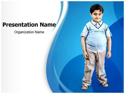 childhood obesity powerpoint templates free obesity in children powerpoint template for