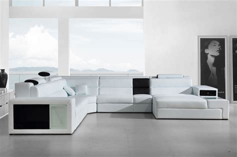 white italian leather sectional sofa polaris italian leather sectional sofa in white