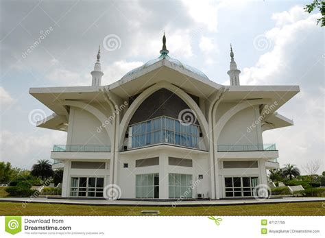 masjid architecture design sultan ismail airport mosque senai airport stock photo