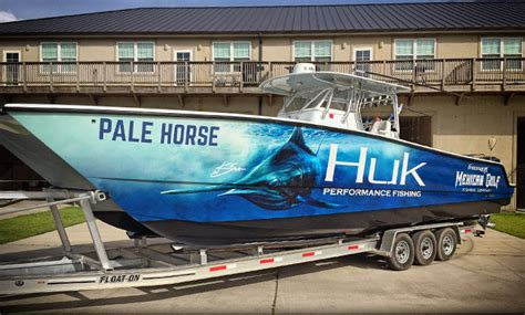 offshore fishing boat wraps huk gear sponsors mexican gulf fishing co venice la