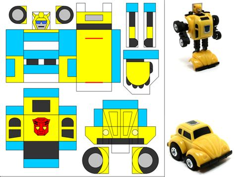 Papercraft Transformers Bumblebee - animated bumble bee cliparts co