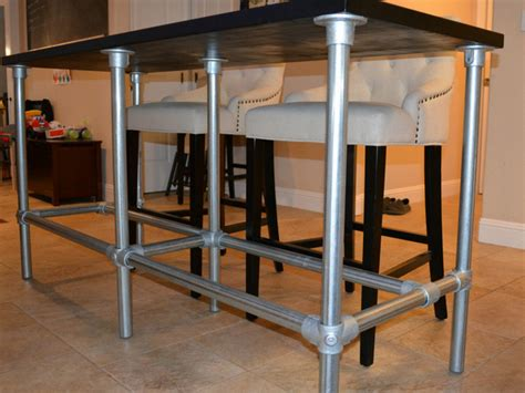 diy bar table pipe legs diy counter height table with pipe legs simplified building
