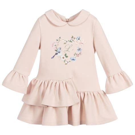 lapin house girls pink milano jersey dress childrensalon