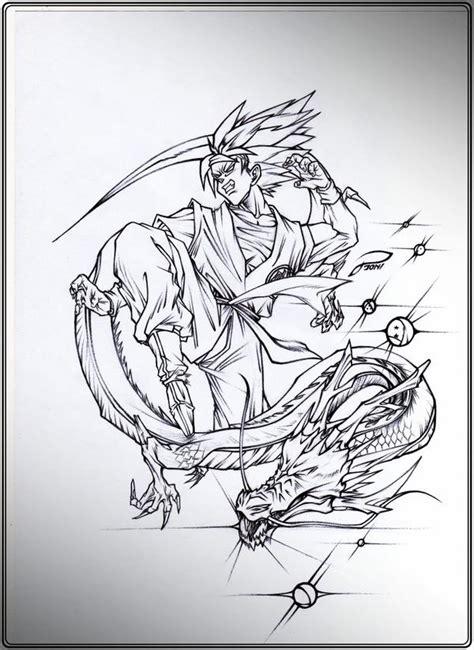 imagenes de goku dibujos dragon ball z son goku and shenlong by