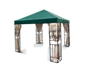 Canopy Tops For Gazebos by New Outdoor Patio Tivoli 10x10 Green Gazebo Replacement