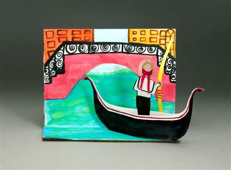 italian crafts for glide along a venetian canal craft crayola