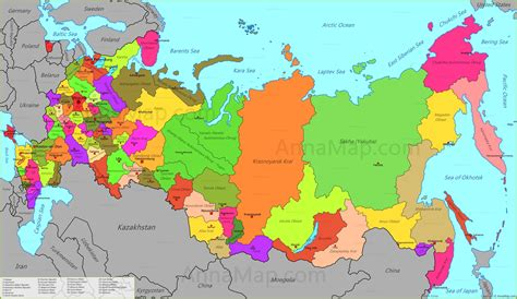 map russia map of siberia russian federation images