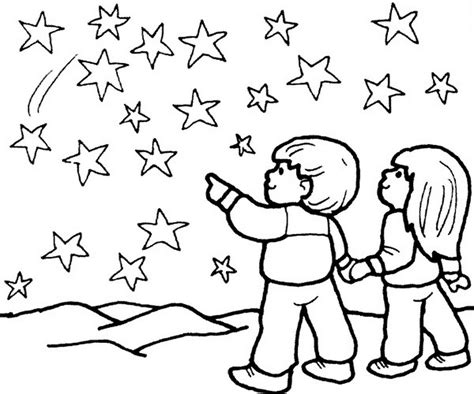 Star Coloring Pages Starry Night Coloringstar Starry Coloring Page